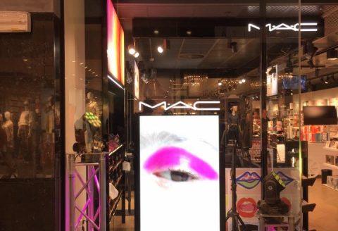 Ambiance Son et Lumière pour MAC au magasin ICIPARISXL du shopping LesGrandsPrés de Mons