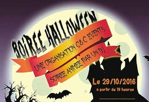 Soirée Halloween ce 29/10/2016! Venez nombreux!
